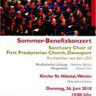 Konzert Kirchenchor USA Sommer-Benefiz