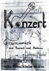 Konzert Johann Mantel