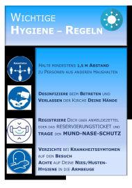 Hygiene Regeln
