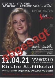Konzert K.Wettin Absage