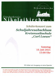 Schuljahresabschlusskonzert KMS Carl Loewe 2021